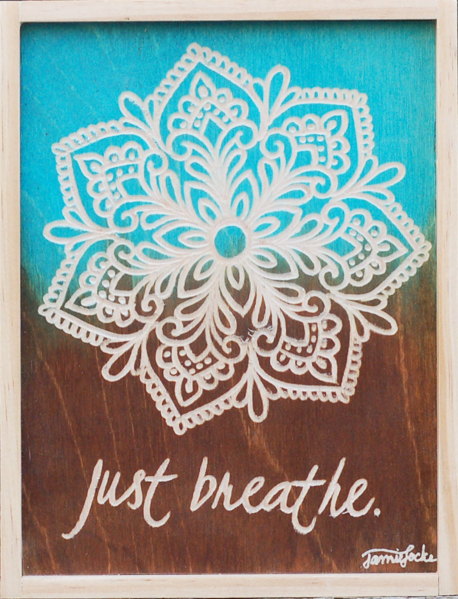 "Just Breathe, 7.75"" x 9.25"""