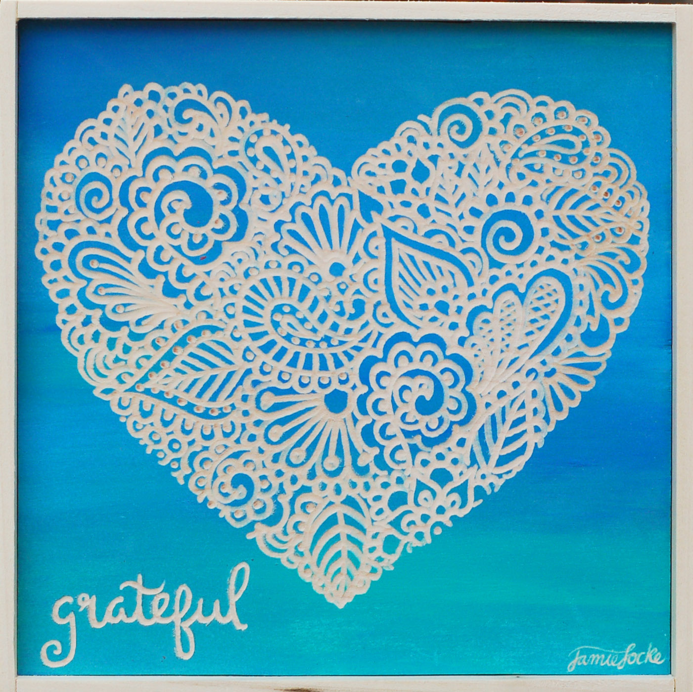 "Grateful Heart, 8"" x 8"" Commissioned"