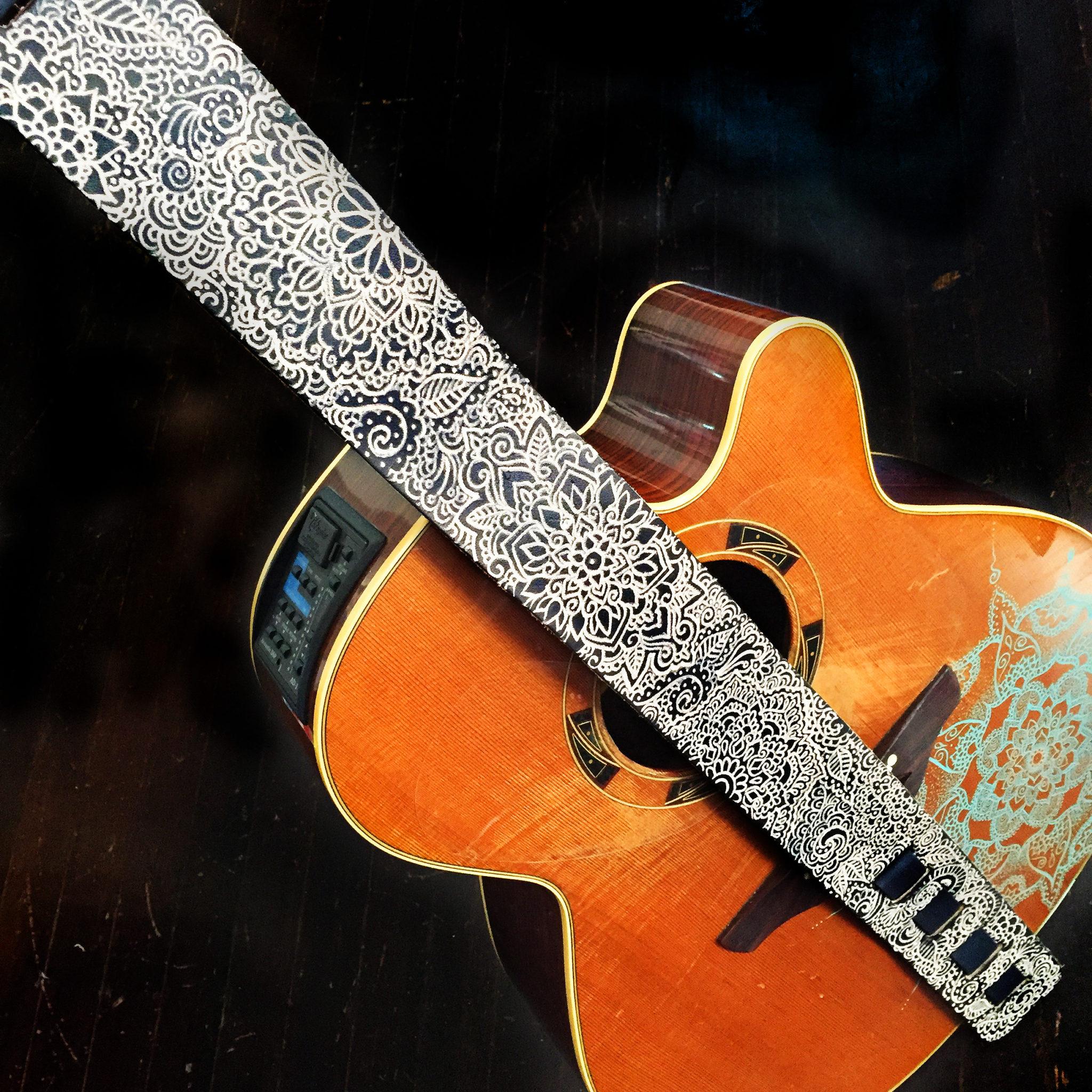 mandala guitar strap