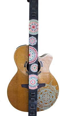 Carved and Colored Guitar Strap