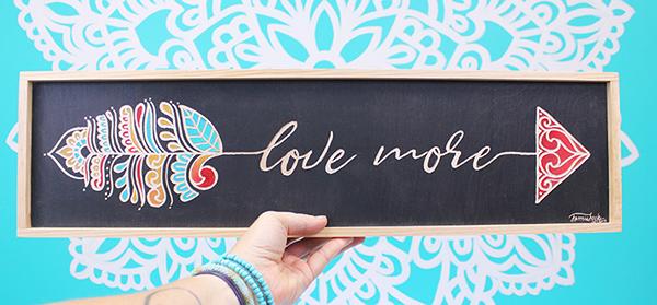 Love More Word Arrow