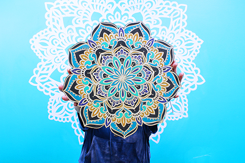 New! Cut-Out Mandala