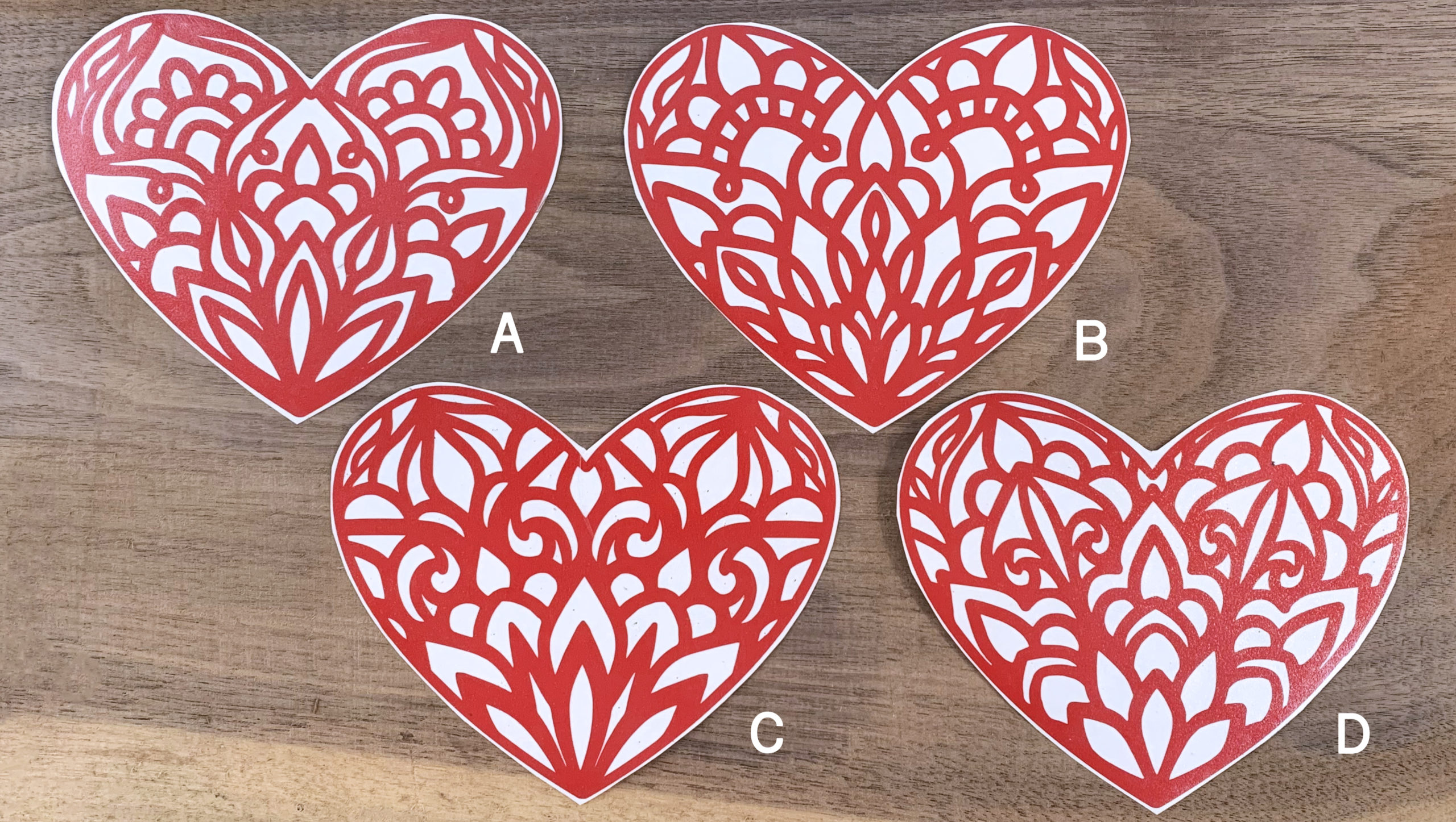Mandala Heart Vinyl Decal