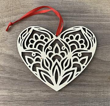 Mandala Heart Ornaments